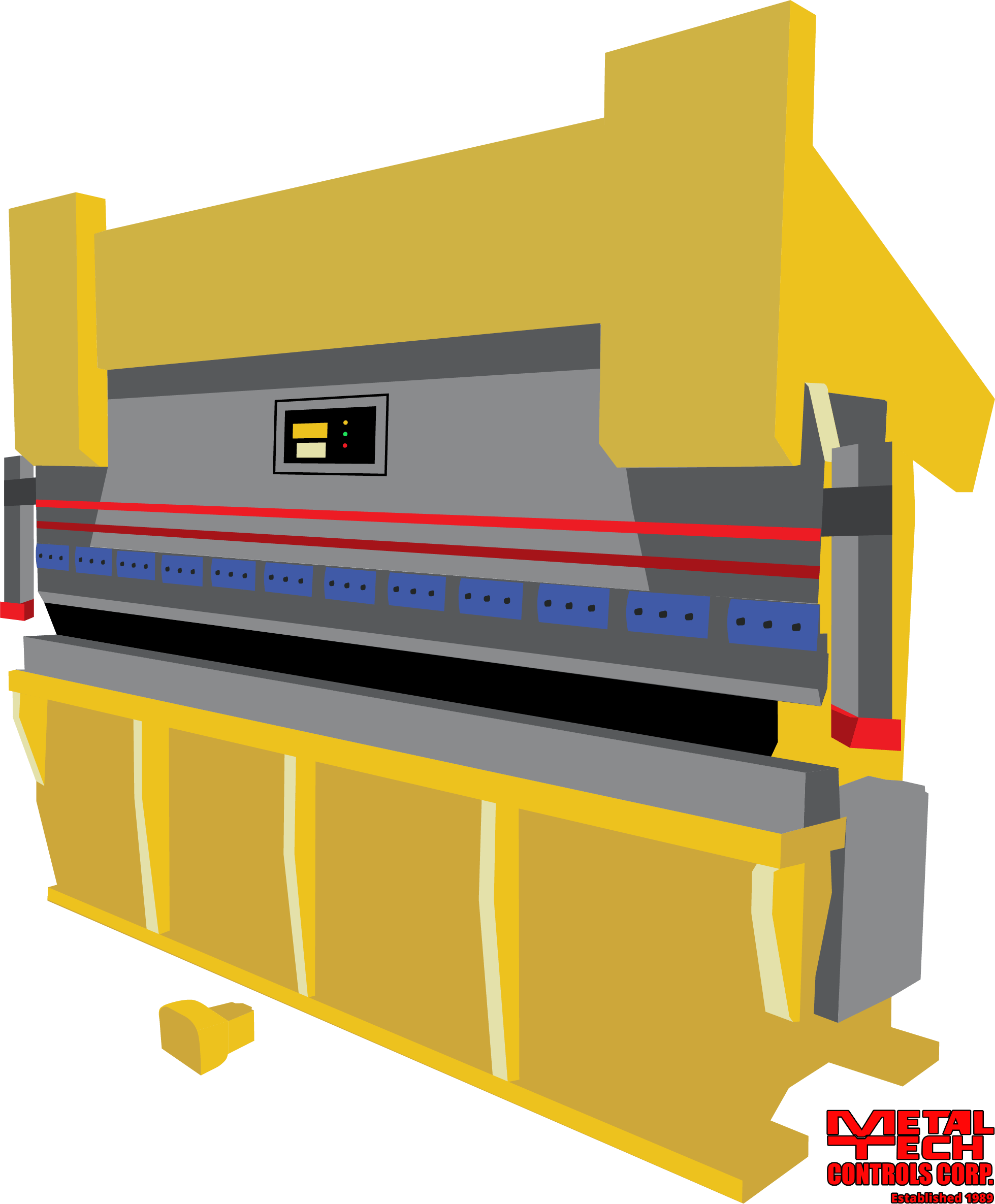 press brake safety devices and press brake controls